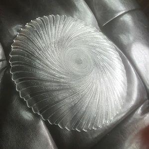 Round Crystal saucer